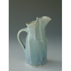 Jug Small Chun Glazed- Folds and Facets